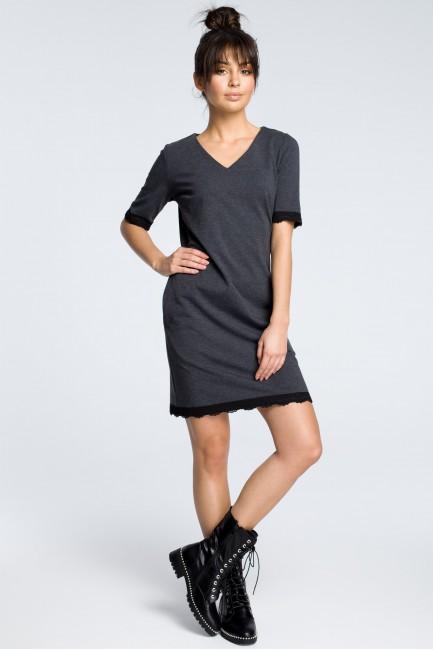 CM3614 Sukienka z rąbkiem...
