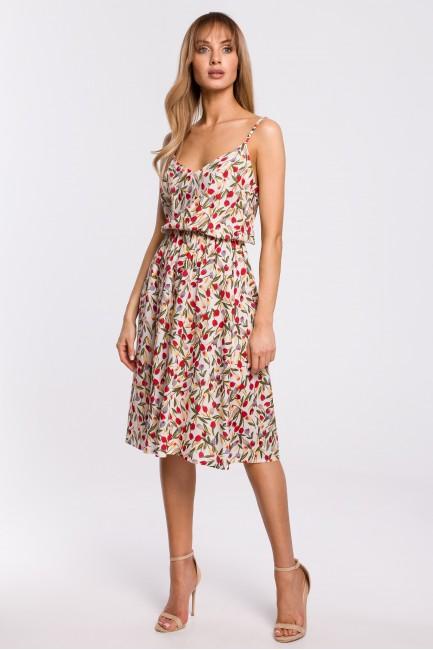 Sukienka na cienkich ramiączkach - model 5