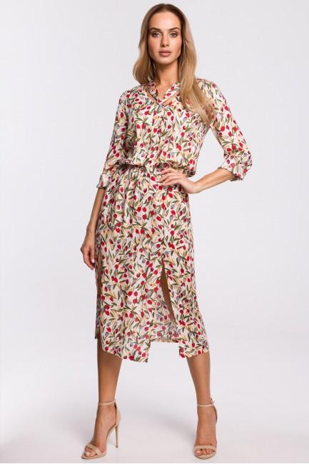 CM5310 Sukienka midi z...