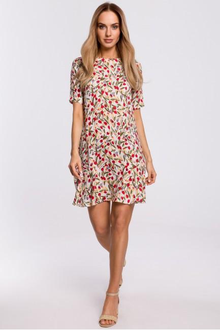 CM5311 Sukienka z dekoltem...