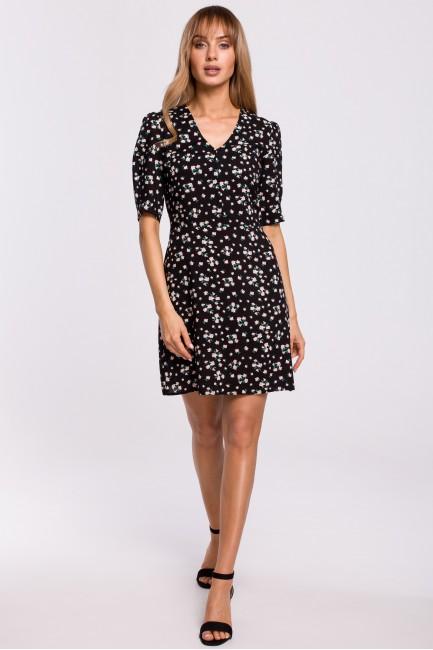 Sukienka mini z krótkimi rękawami - model 8