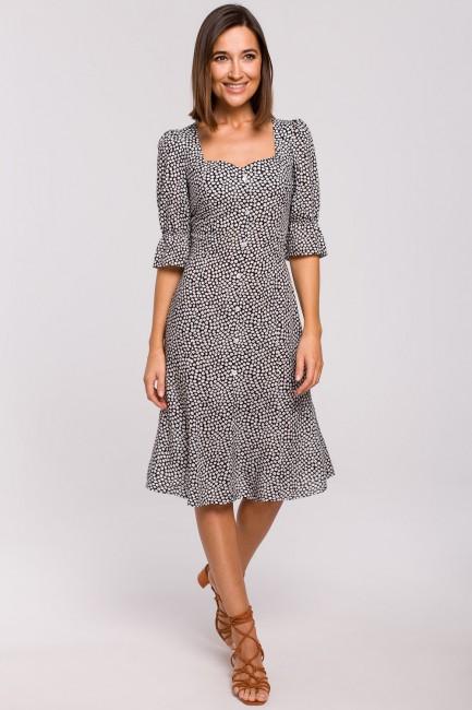 Sukienka midi z guzikami - model 2