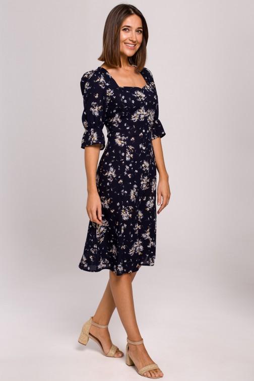CM5324 Sukienka midi z guzikami - model 4
