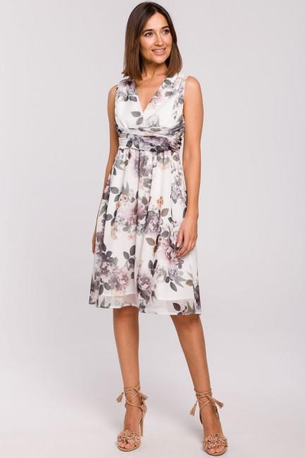 Szyfonowa sukienka bez rękawów - model 1