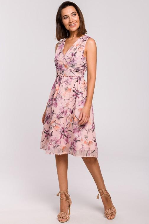 Szyfonowa sukienka bez rękawów - model 2