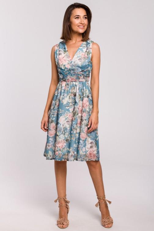 CM5326 Szyfonowa sukienka bez rękawów - model 4