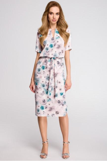 CM3630 Sukienka z paskiem i...
