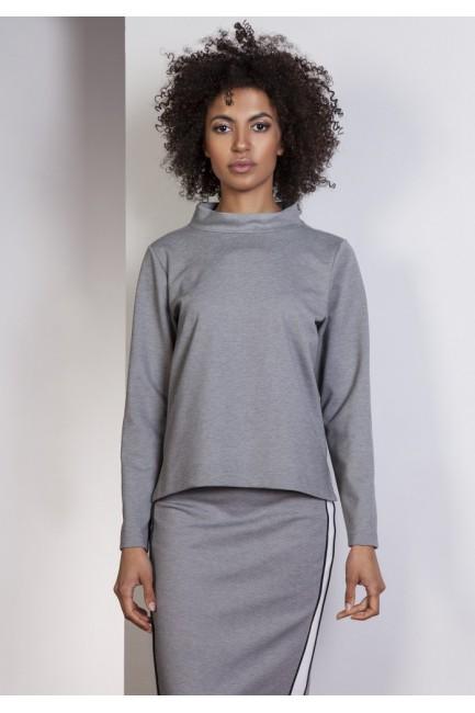 CM3632 Asymetryczna bluza...