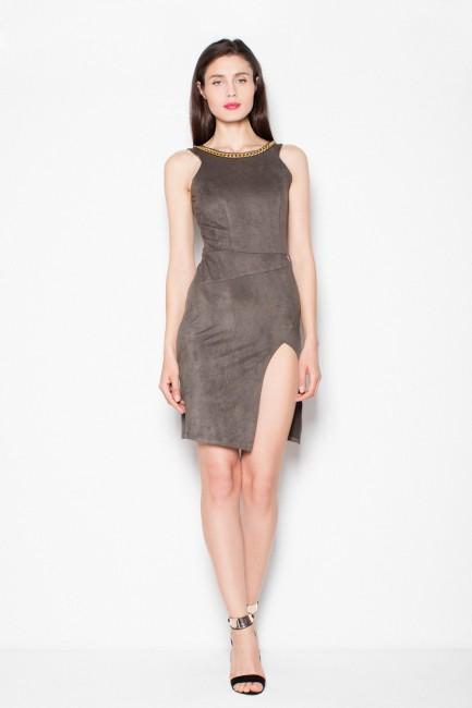 CM2965 Zamszowa sukienka z...