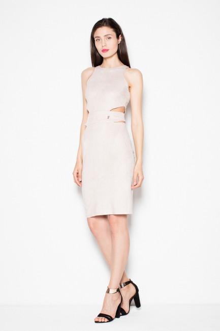 CM2964 Zamszowa sukienka z...