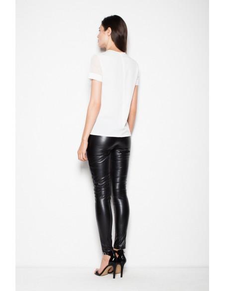 Eleganckie spodnie skórzane - czarne