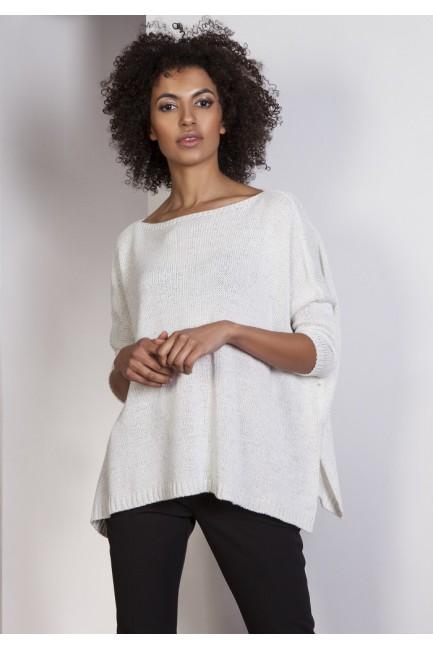 Elegancki sweter oversize - ecru