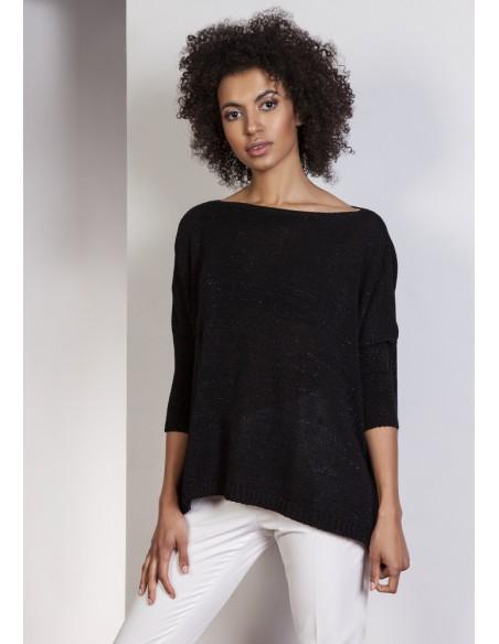 Elegancki sweter oversize - czarny