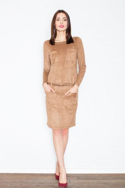 CM2361 Zamszowa sukienka z...