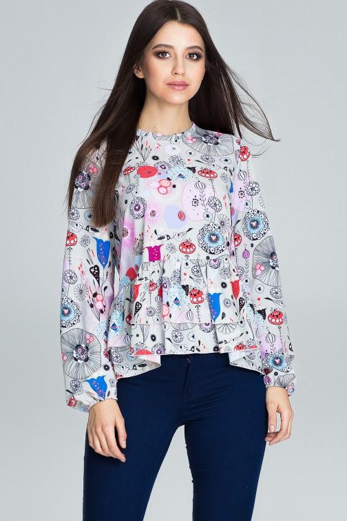CM3660 Luźna bluzka w kwiaty - wzór 73