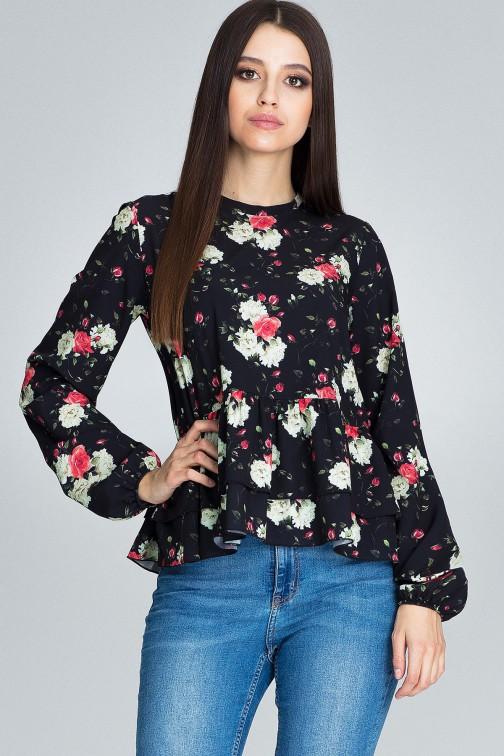 CM3660 Luźna bluzka w kwiaty - wzór 75
