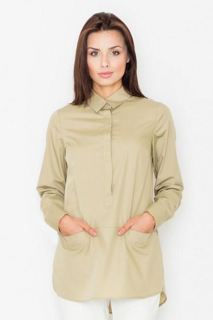 CM2535 Bluzka koszulowa z...