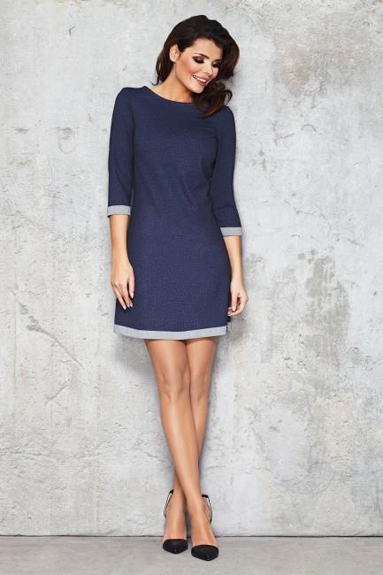 CM1473 Trapezowa sukienka z...