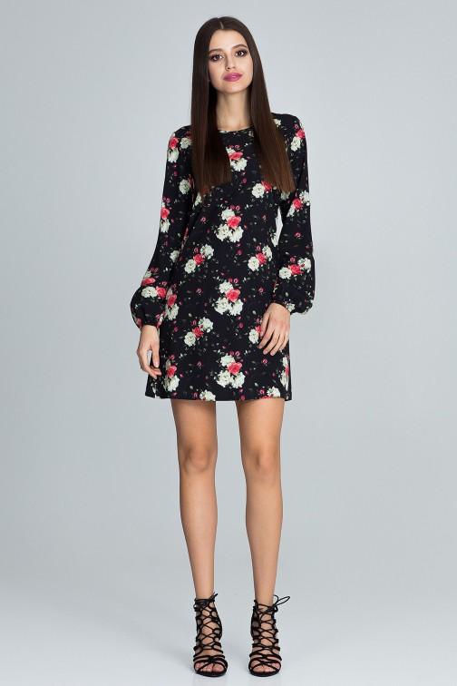 CM3662 Prosta sukienka w kwiaty - wzór 75