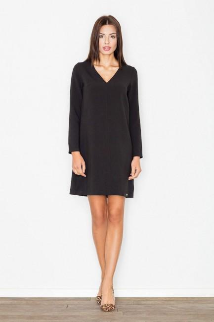 CM2500 Trapezowa sukienka z...