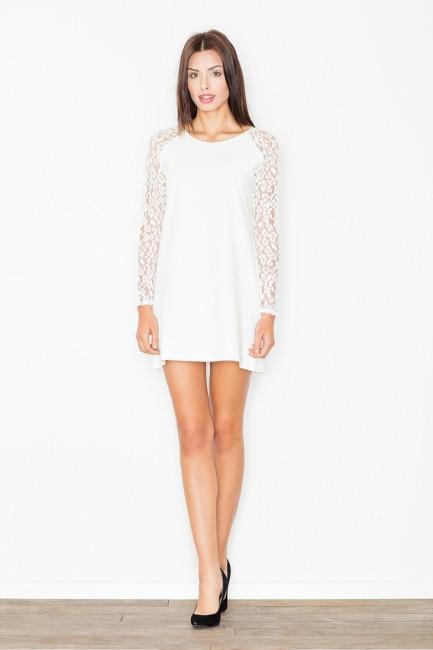 CM2499 Trapezowa sukienka z...