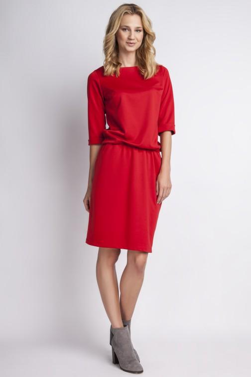 CM2766 Elegancka sukienka mini - czerwona