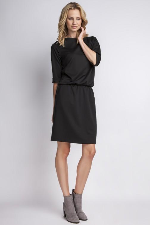 CM2766 Elegancka sukienka mini - czarna