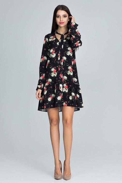 CM3665 Modna sukienka z falbanką - wzór 75