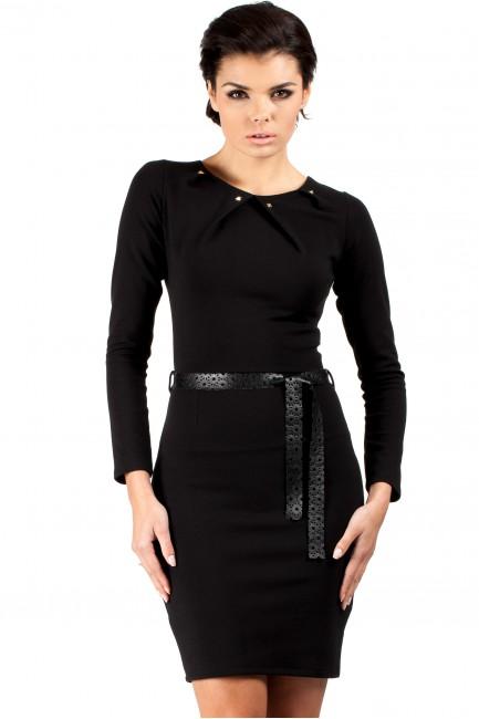 Sukienka ołówkowa z ćwiekami - czarna