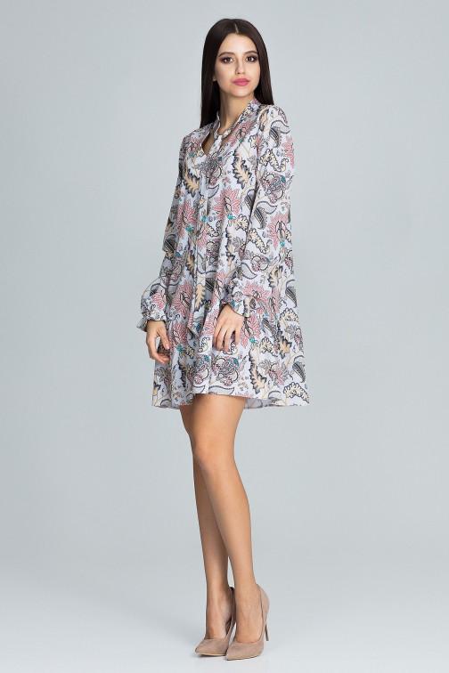CM3665 Modna sukienka z falbanką - wzór 79