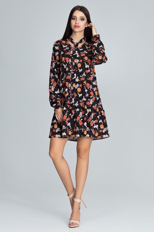 CM3665 Modna sukienka z falbanką - wzór 82