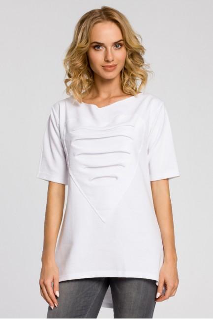 Dresowa bluza tunika serce - biała