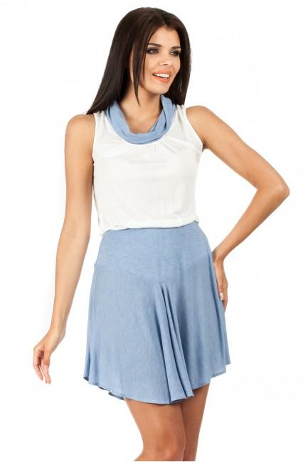 Letnia sukienka z mini golfikiem - błękitna