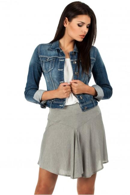 Asymetryczna spódniczka idealna na lato - szara