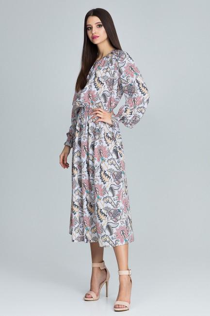 CM3666 Długa sukienka z...