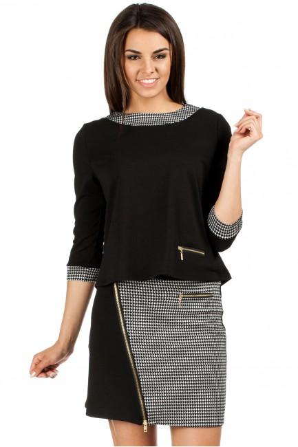 Trapezowa bluzka pepito - czarna