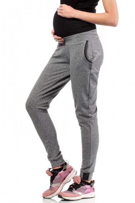 Dresowe sportowe spodnie ciążowe - szare
