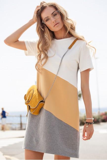 CM3633 Sukienka mini w 3...