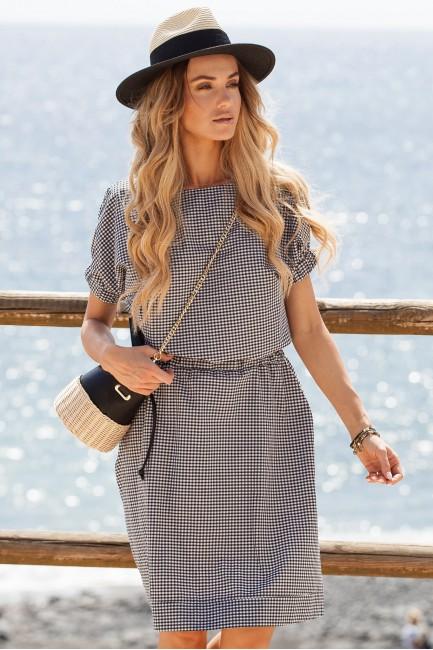 CM3636 Sukienka w kratkę -...