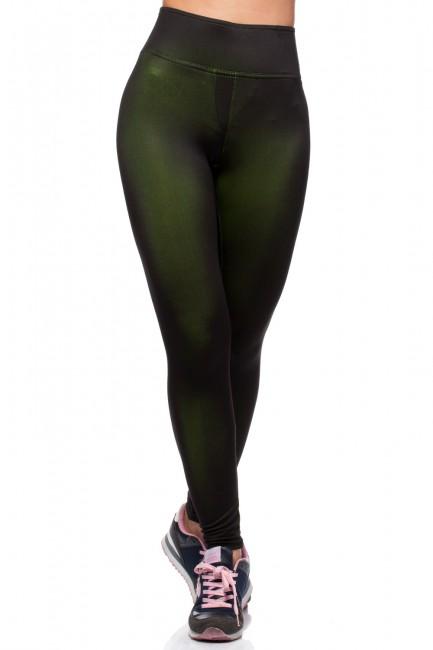 Sportowe legginsy fitness - zielone