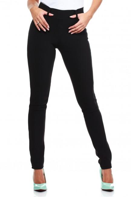 Włoskie legginsy getry lekko połyskujące - czarne