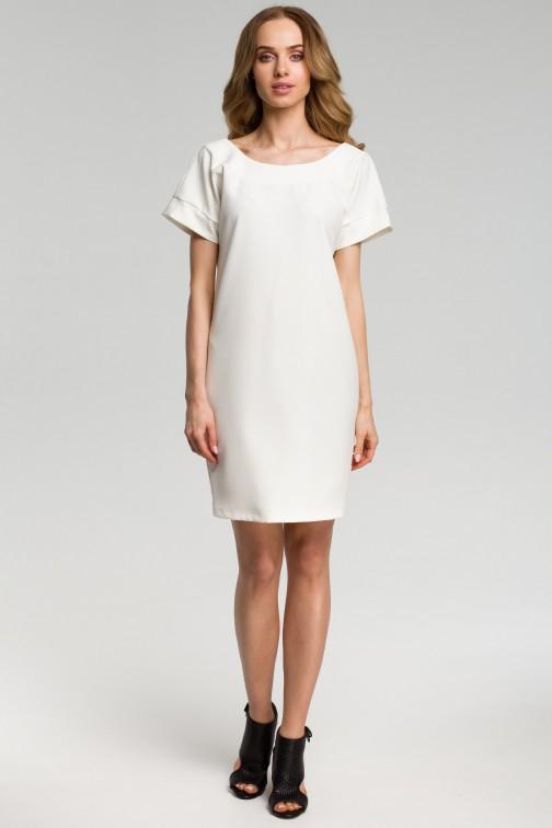 CM3640 Sukienka z dekoltem na plecach - ecru