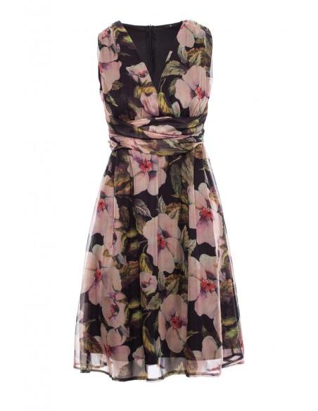 Szyfonowa sukienka bez rękawów - model 3