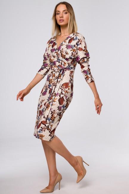 CM5420 Sukienka z kopertową...