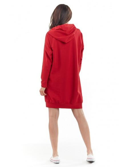 Sportowa bluza z kapturem - czerwona