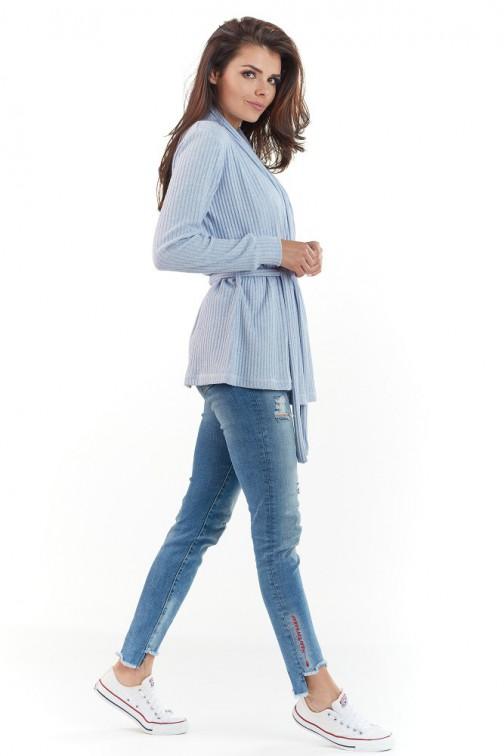 CM3722 Niezapinana narzutka damska - niebieska