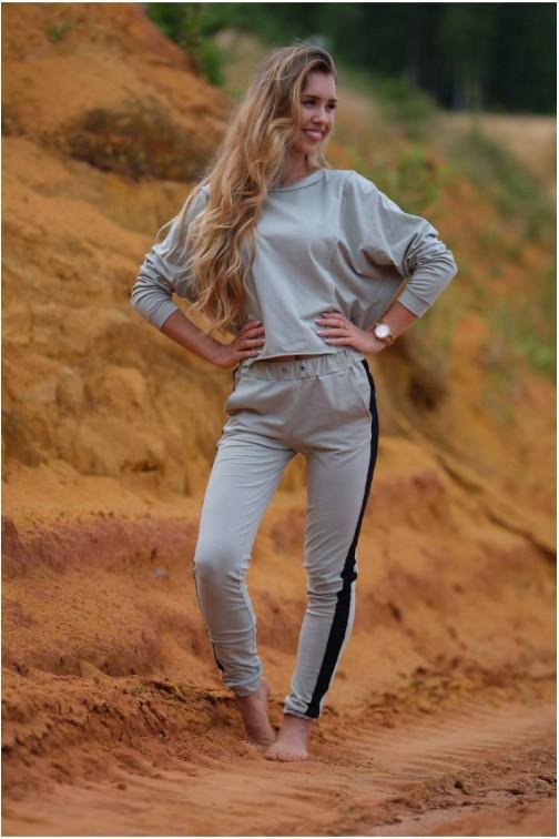 CM5438 Krótka dzianinowa bluzka - miętowa