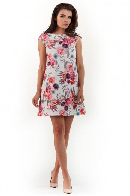 CM3734 Trapezowa sukienka...