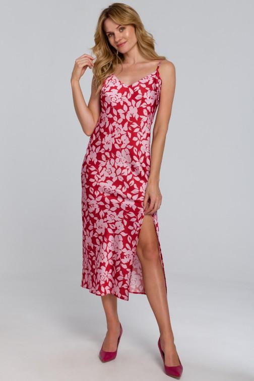 CM5462 Sukienka maxi na cienkich ramiączkach - model 1