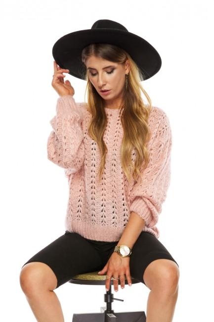 CM5480 Ażurowy sweter z...